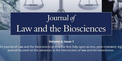 Journal of Law and the Biosciences, Volume 4, Issue 1, Now Available Online