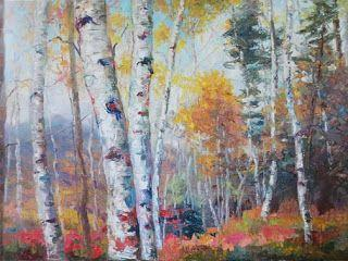 "New ""October Transitions"" oil painting by Contemporary Impressionist Niki Gulley"