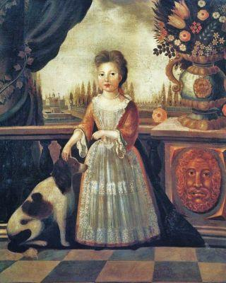 18C American Women & Children & their Dogs