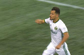Sebastian Blanco scores and ties it up for the Portland Timbers vs. Seattle Sounders | Audi 2018 MLS Cup Playoffs