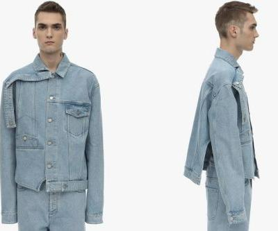 BOTTER Deconstructs Upside Down Cotton Denim Jacket