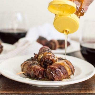 Bacon-Wrapped Dates with Cheese