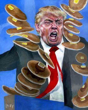 Presidents Day Painting / President Donald Trump Angry At Pancakes