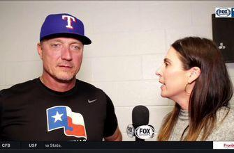 Jeff Banister on offense in 12-5 win over Chicago