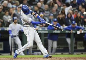 Merrifield has 2 HR, 6 RBIs to lift Royals over Mariners 9-0