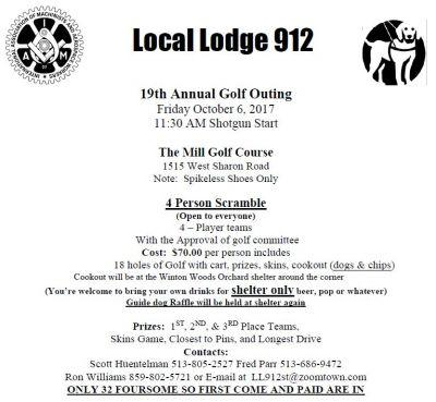 Local Lodge 912 19th Annual Golf Outing