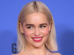 Emilia Clarke Channels Daenerys At The Golden Globes With A Blonde Lob