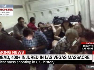 Las Vegas concertgoers hid in a freezer during the mass shooting
