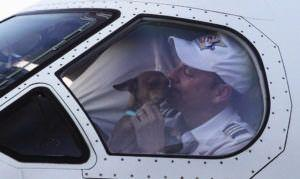 There's a Puppy in This Airplane Pilot's Lap for One Unbelievably Touching Reason