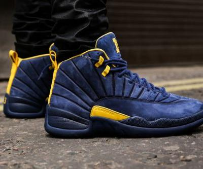 "An On-Foot Look at Air Jordan 12 x Public School ""Michigan"""