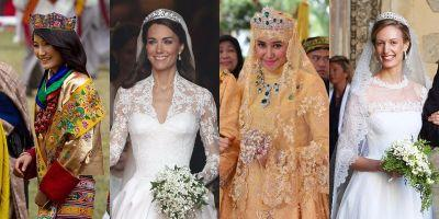 15 photos that show what royal wedding dresses look like around the world