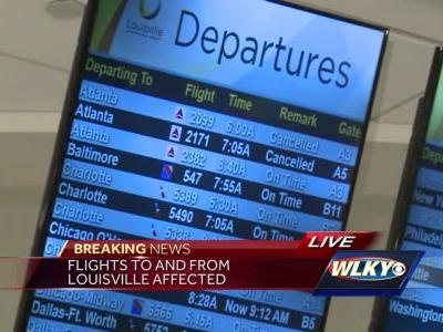 Outage at Atlanta airport affecting flights in Louisville
