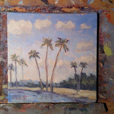 Hawaii Palm Trees Landscape Original Paintings and Prints