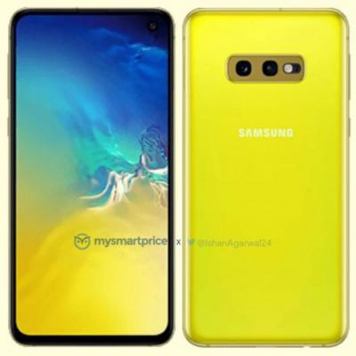 Samsung Galaxy S10e render leaks in Canary Yellow