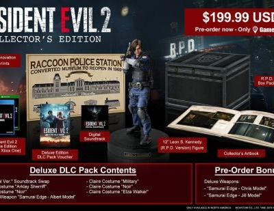 The Resident Evil 2 collector's edition won't come cheap
