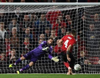 Lampard's Derby knock Man Utd out of League Cup, City ease into last 16