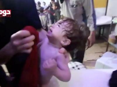 The deadly chemical used in a suspected gas attack on a Syrian hospital feels 'a knife made of fire' in your lungs