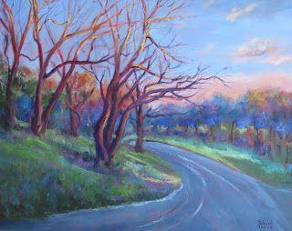 Highlights, New contemporary Landscape Painting by Sheri Jones