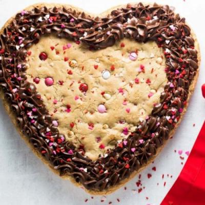 Valentine's Day Cookie Cake