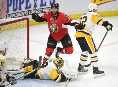 Senators chase Penguins goalie Marc-Andre Fleury in Game 3 rout