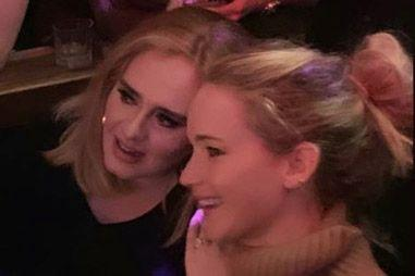 Jennifer Lawrence and Adele party at NYC gay bar