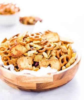 Gluten Free Sweet and Spicy Homemade Chex Mix