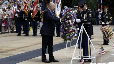 Trump Honors Fallen Warriors At Arlington National Cemetery