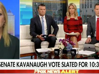 Kellyanne Conway fumes about sexual assault survivors protesting Kavanaugh while 'Fox and Friends' host Ainsley Earhardt says their tactics are 'dangerous'