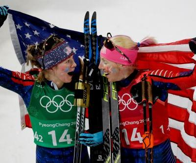 US wins first Olympic gold medal in women's cross-country skiing