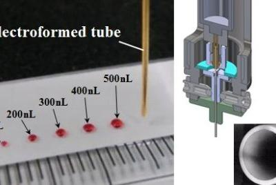 Precise Dispensing Technology Using Electroformed Tubes for Micro-Volume Blood Diagnosis