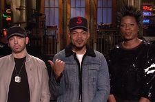 Chance the Rapper Considers Name Change in 'SNL' Promo With Eminem & Leslie Jones