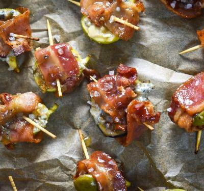 Bacon-Wrapped Figs With Blue Cheese and Bourbon