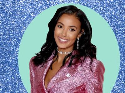 Maya Jama wears incredible sparkly pink Henry Holland dress on the Brit Awards red carpet