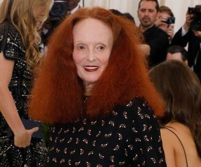 Grace Coddington has a butterfingers moment at Calvin Klein