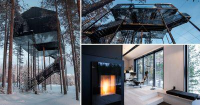 All we want is to stay in this treehouse with a view of the Northern Lights