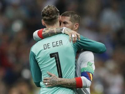 Ramos tells De Gea 'never give up' after Portugal blunder
