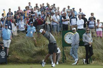 The Latest: Leaders starts third rounds at British Open