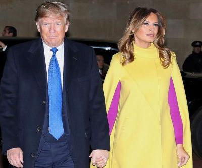 Melania Trump stuns in bright yellow cape for meeting with royals in London