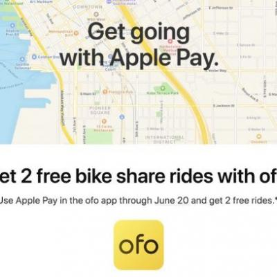 Apple Pay Promo Offers Two Free Bike Share Rides Through ofo