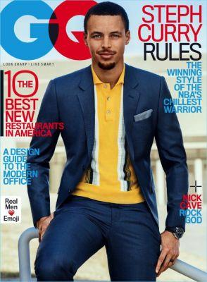 Steph Curry Covers GQ, Dons Sleek Designer Suiting
