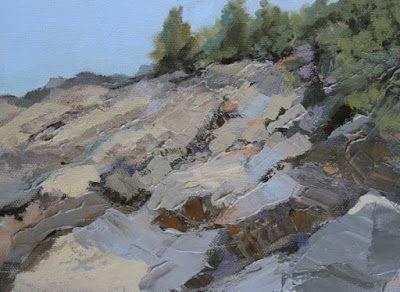"Landscape, Seascape Oil Painting ""Maine-Study 4"" by Colorado Landscape Artist Susan Fowler"