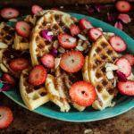 Waffles with Almond Butter Coffee Syrup
