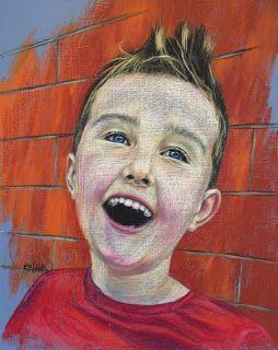 Caden's pastel portrait by Kim Blair