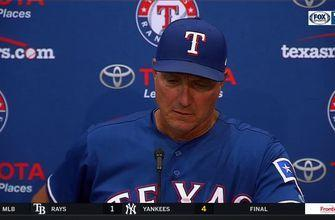 Jeff Banister on Rangers battling to get the 5-2 win over Rockies