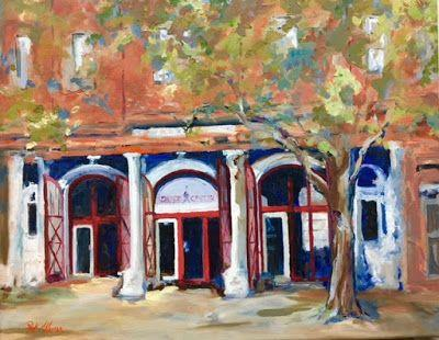 "Landscape Fine Art Oil Painting ""Mulberry Center"" by Georgia Artist Pat Warren"