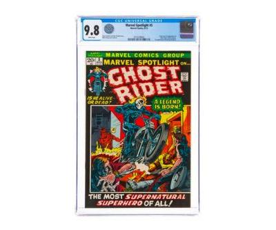 Marvel Spotlight 5 'Ghost Rider' First Appearance Comic Book Sells for $264,000 USD