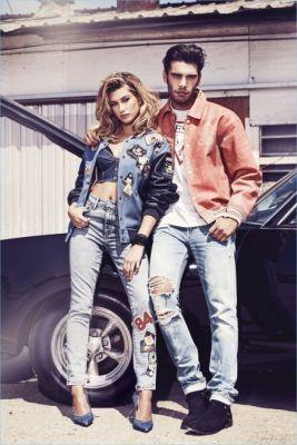 Stefano Sala Couples Up with Hailey Baldwin for GUESS Jeans Campaign