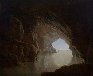 Joseph Wright, Cave at evening