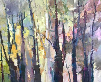 "Contemporary Abstract Landscape Painting ""Shared Roots"" by Intuitive Artist Joan Fullerton"