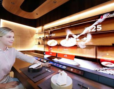 LG transparent OLED screens try to be more common in homes, restaurants